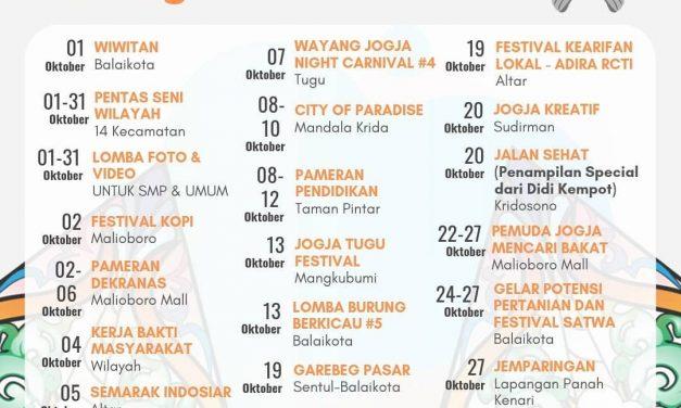 Agenda Kota Yogyakarta Bulan Oktober 2019